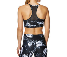 FRONT MESH DEEP V PRINTED BRA BLACK-WHITE - APPAREL - Betsey Johnson