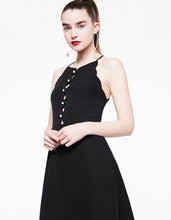 SCALLOP NECK MINI DRESS BLACK - APPAREL - Betsey Johnson