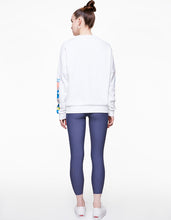 GEOSCAPE OVERSIZED SWEATSHIRT WHITE - APPAREL - Betsey Johnson