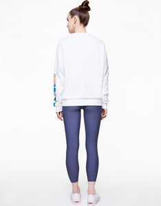 GEOSCAPE OVERSIZED SWEATSHIRT WHITE