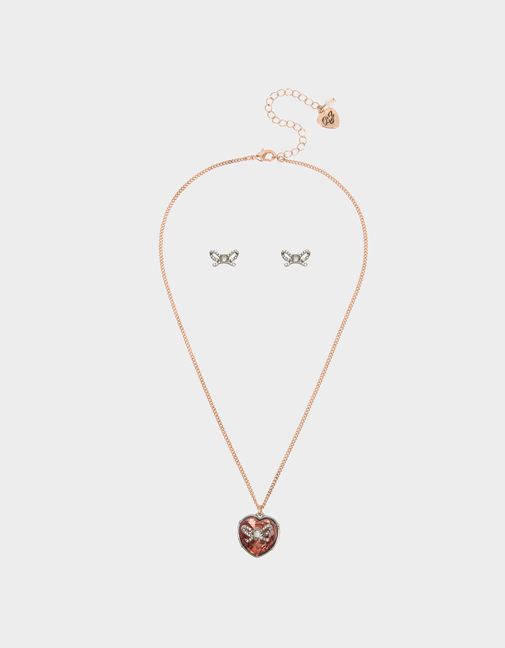 GET YOUR WINGS BOW HEART SET BLUSH - JEWELRY - Betsey Johnson