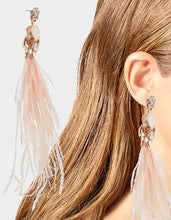 GET YOUR WINGS FEATHER EARRINGS BLUSH - JEWELRY - Betsey Johnson