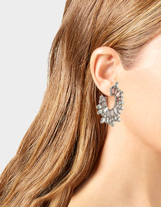 GET YOUR WINGS FRONT BACK HOOP EARRINGS BLUSH
