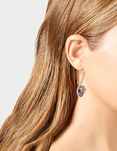 GET YOUR WINGS HEART HOOK EARRINGS BLUSH