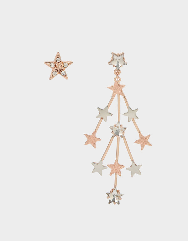 GET YOUR WINGS STAR MISMATCH EARRINGS CRYSTAL - JEWELRY - Betsey Johnson