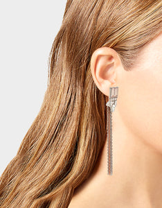 GET YOUR WINGS STONE FRINGE EARRINGS BLUSH