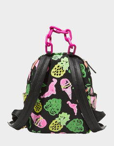 GETTING FRUITY SMALL BACKPACK BLACK MULTI