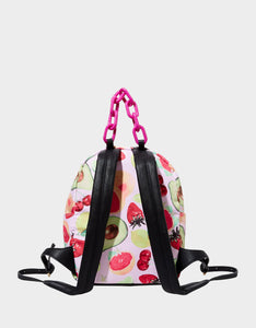 GETTING FRUITY SMALL BACKPACK PINK MULTI