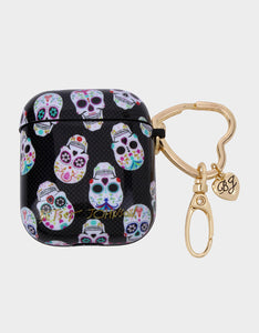 GIFTY BETSEY SKULLS AIRPOD CASE MULTI
