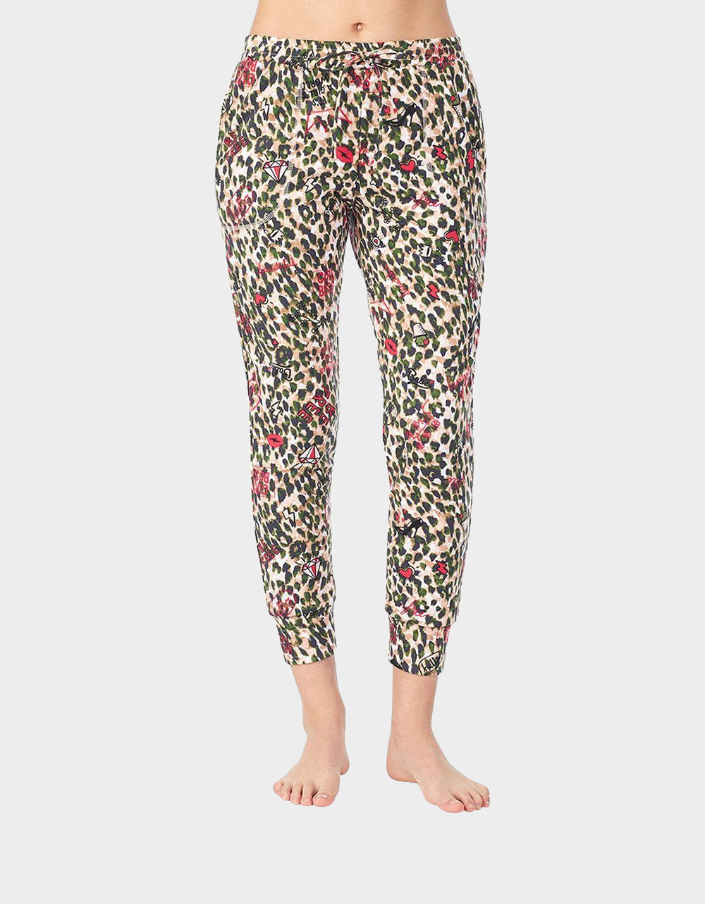 GIRL POWER BRUSHED TERRY JOGGER CAMOUFLAGE - APPAREL - Betsey Johnson