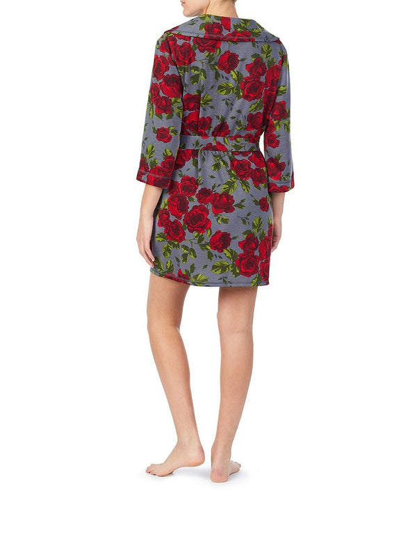 GIRL POWER BRUSHED TERRY ROBE ROSE - APPAREL - Betsey Johnson
