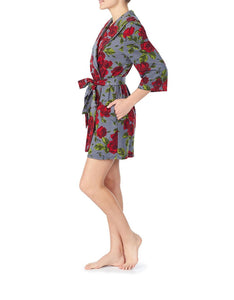 GIRL POWER BRUSHED TERRY ROBE ROSE