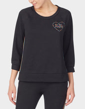 GIRL POWER BRUSHED TERRY TOP BLACK - APPAREL - Betsey Johnson