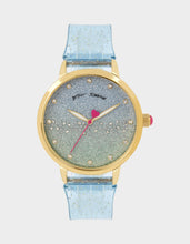 GLITTER STRAP SILICONE WATCH BLUE - JEWELRY - Betsey Johnson