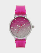 GLITTER STRAP SILICONE WATCH PINK - JEWELRY - Betsey Johnson