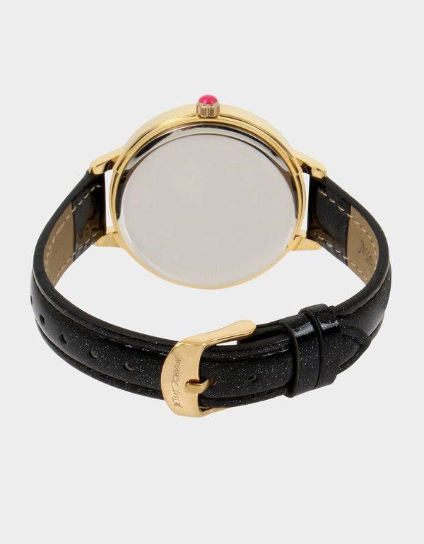 GLITTERING GOODNESS WATCH BLACK - JEWELRY - Betsey Johnson