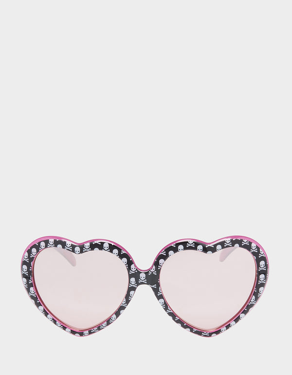 GOOD GIRL BAD GIRL SUNGLASSES BLACK-PINK - ACCESSORIES - Betsey Johnson