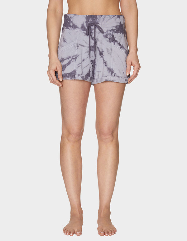 GROOVY TIE DYE SHORT GREY - APPAREL - Betsey Johnson