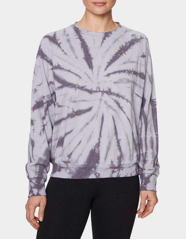 GROOVY TIE DYE SWEATSHIRT GREY - APPAREL - Betsey Johnson