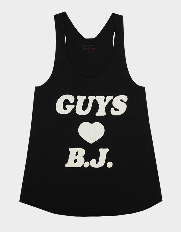 EXCLUSIVE GUYS HEART BJ TANK BLACK - APPAREL - Betsey Johnson