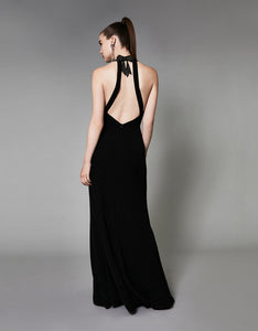 HALTER MERMAID DRESS BLACK