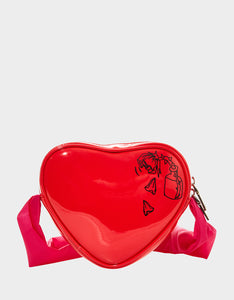 LIMITED EDITION HEART ON YOU CROSSBODY RED