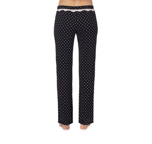 HEART AND SOUL RAYON KNIT PANT BLACK-PINK