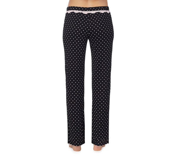 HEART AND SOUL RAYON KNIT PANT BLACK-PINK - APPAREL - Betsey Johnson