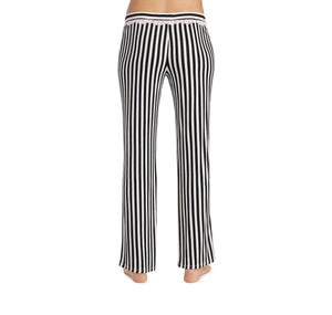HEART AND SOUL RAYON KNIT PANT BLACK-WHITE