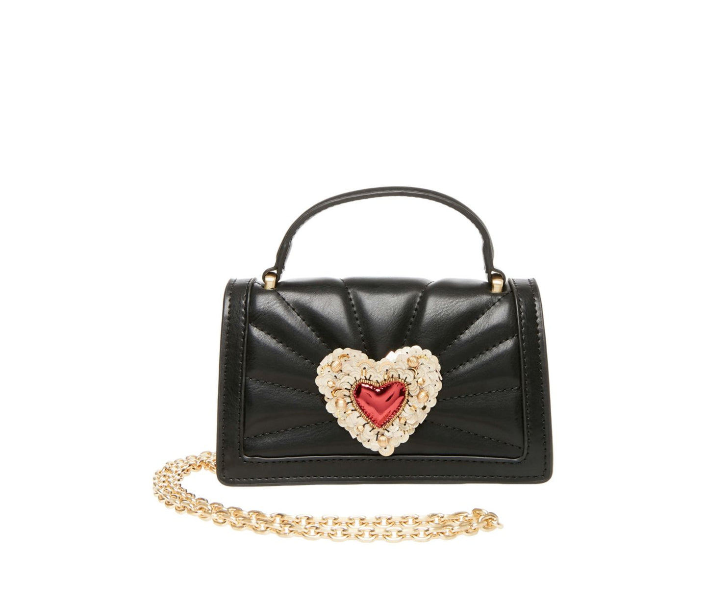 HEARTS AFIRE CROSSBODY BLACK - HANDBAGS - Betsey Johnson