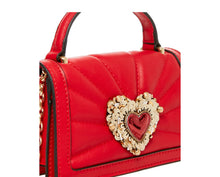 HEARTS AFIRE CROSSBODY RED - HANDBAGS - Betsey Johnson