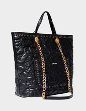 HEARTS AFIRE TOTE BLACK - HANDBAGS - Betsey Johnson