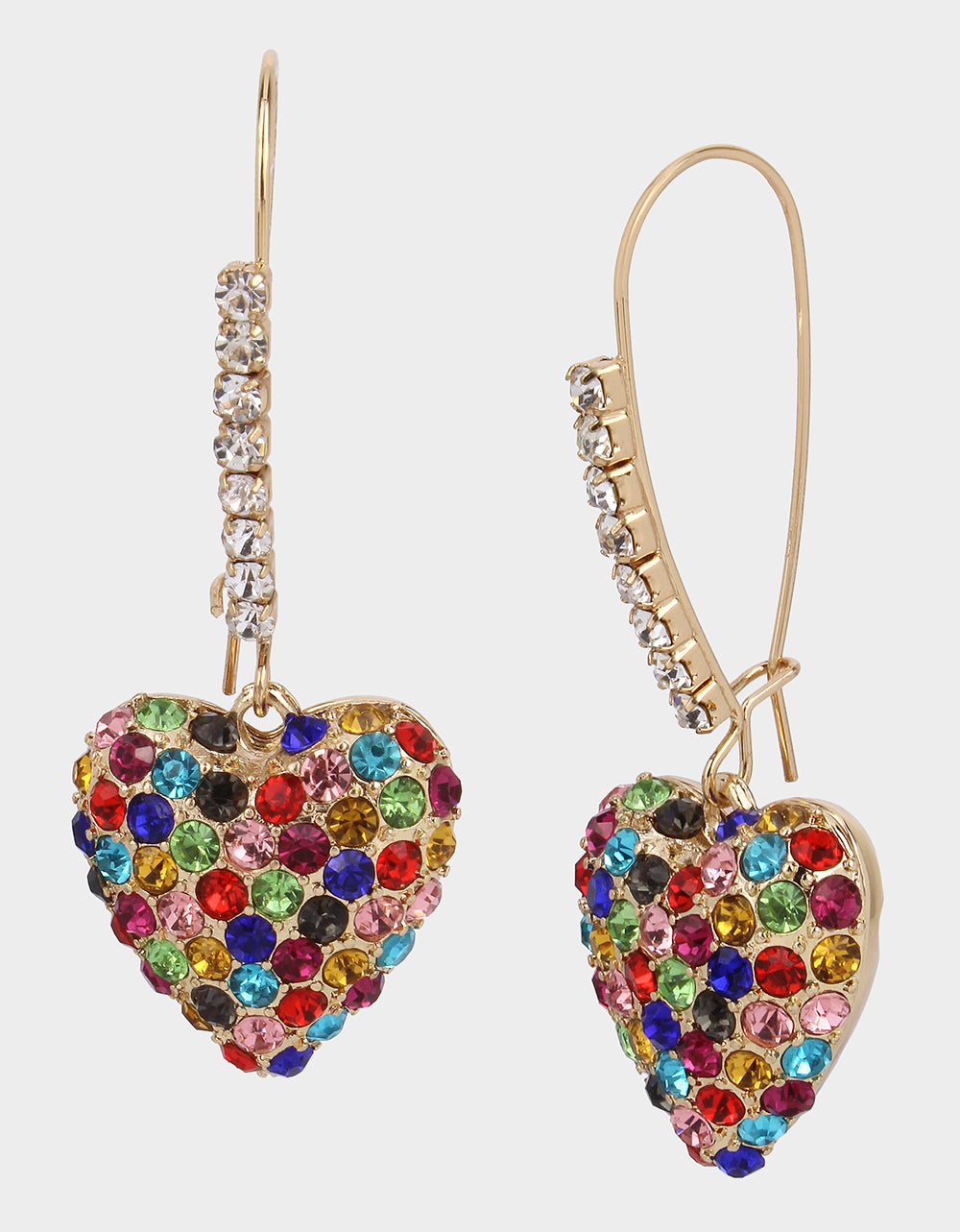 HEARTS ON FIRE EARRING MULTI - JEWELRY - Betsey Johnson