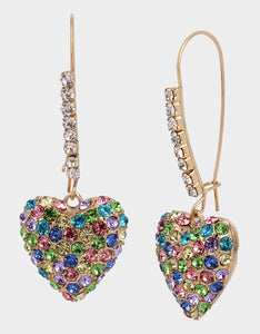 HEARTS ON FIRE EARRING PASTEL MULTI