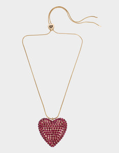 HEARTS ON FIRE PENDANT FUSCHIA FAB