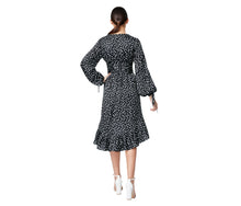 HIGH LOW DRESS WITH CHERRIES BLACK-WHITE - APPAREL - Betsey Johnson