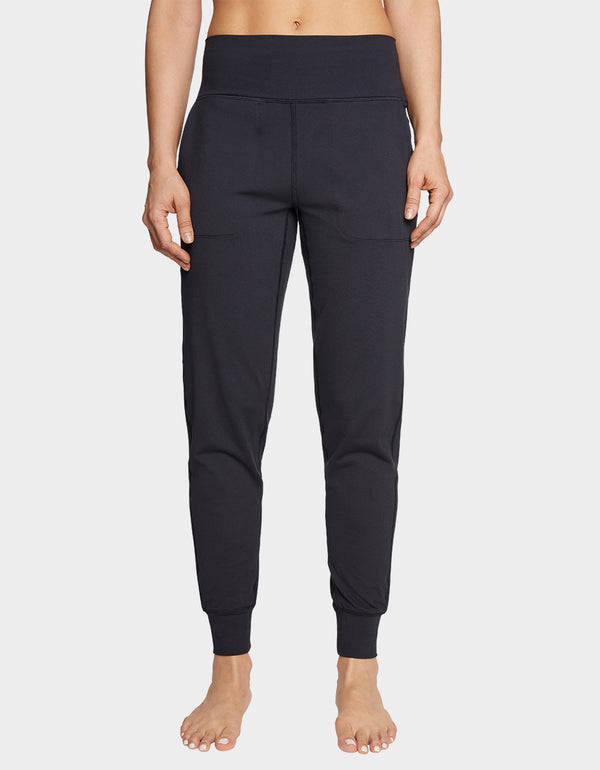 HIGH RISE SLIM JOGGER BLACK - APPAREL - Betsey Johnson