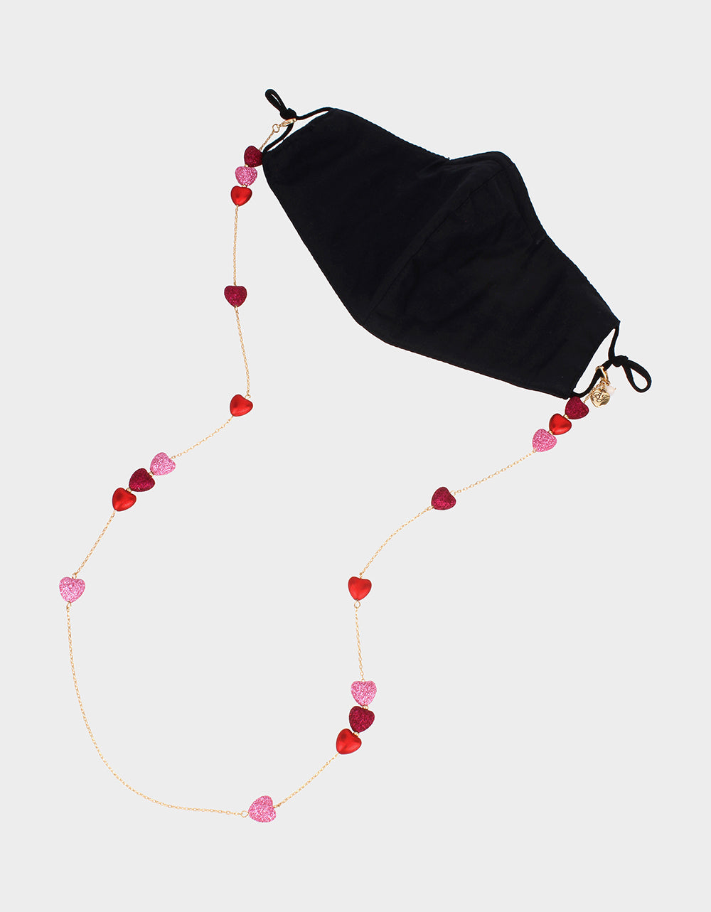 HOLD IT HEART MASK CHAIN PINK - ACCESSORIES - Betsey Johnson