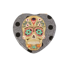 HOLIDAY 2018 DOT SKULL COMPACT SILVER - ACCESSORIES - Betsey Johnson