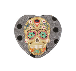 HOLIDAY 2018 DOT SKULL COMPACT SILVER
