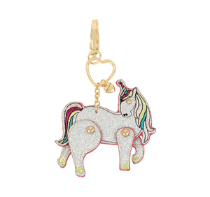 HOLIDAY 2018 MOVING SILVER UNICORN KEYCHAIN SILVER