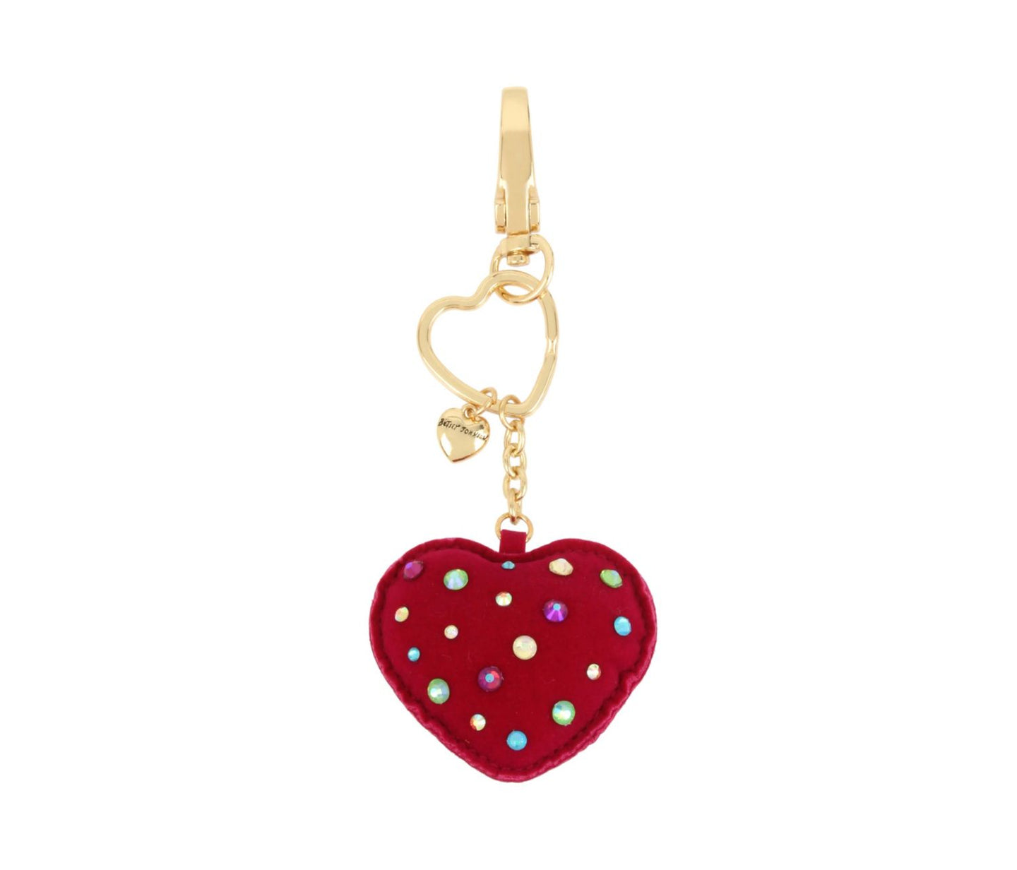 HOLIDAY 2018 PINK HEART KEYCHAIN PINK - ACCESSORIES - Betsey Johnson