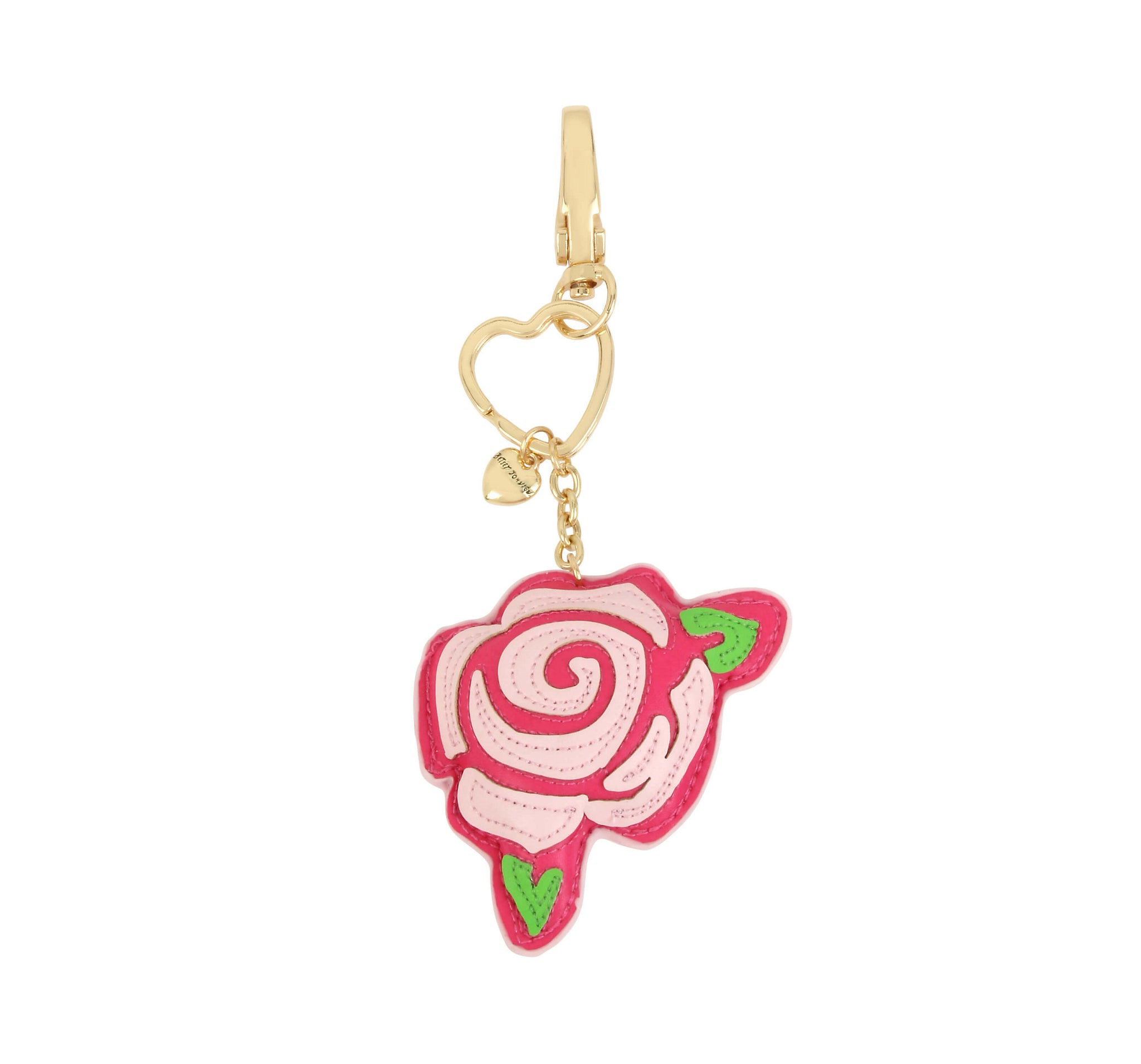 2e454a6a753b6 HOLIDAY 2018 WHITE ROSE KEYCHAIN PINK - ACCESSORIES - Betsey Johnson ...