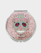 HOLIDAY 2019 GLITTER SKULL COMPACT PINK - ACCESSORIES - Betsey Johnson