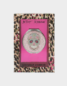 HOLIDAY 2019 GLITTER SKULL COMPACT PINK