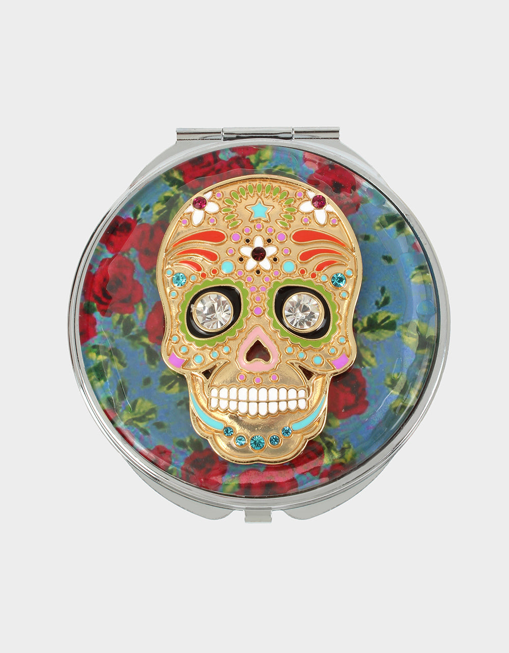 HOLIDAY 2019 ROSE SKULL COMPACT RED - ACCESSORIES - Betsey Johnson