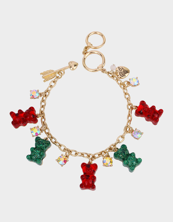 HOLIDAY GUMMY BEAR CHARM BRACELET MULTI - JEWELRY - Betsey Johnson