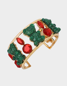HOLIDAY GUMMY BEAR CUFF MULTI