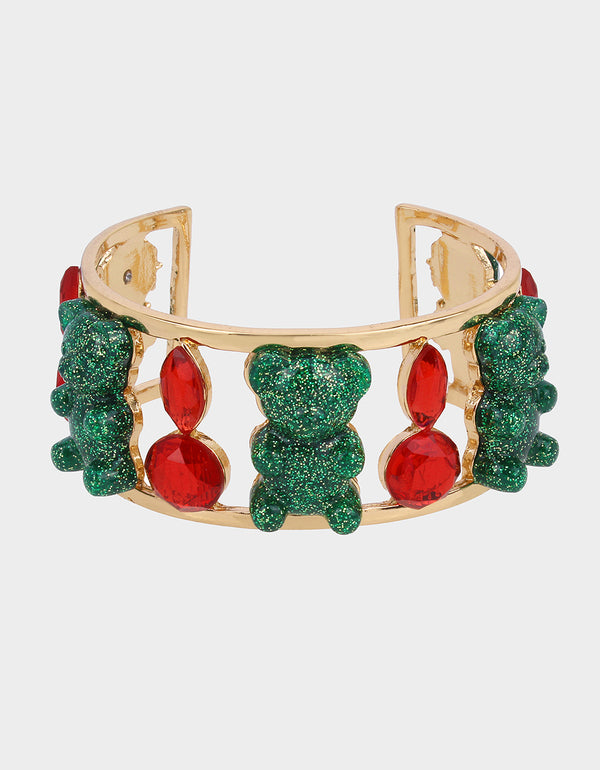 HOLIDAY GUMMY BEAR CUFF MULTI - JEWELRY - Betsey Johnson