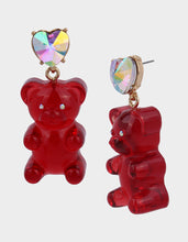 HOLIDAY GUMMY BEAR EARRINGS RED - JEWELRY - Betsey Johnson